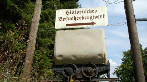 Goldwaschanalge unter Tage im Besucherbergwerk Gleissinger Fels