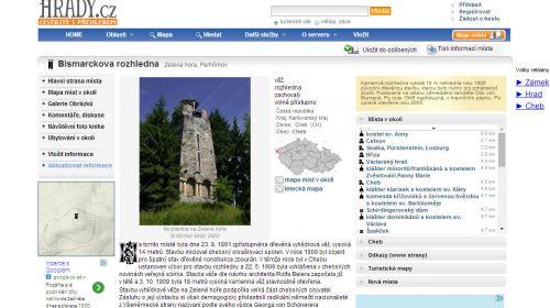 Bismarckturm auf dem Berg Zelená hora bei Cheb