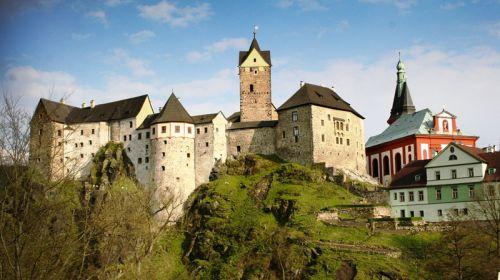 Die kleinste Rundkirche Europas - Burg Elbogen (Loket)