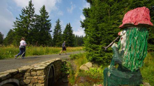 Die einzige umd am höchsten gelegene Christkind-route in Tschechien