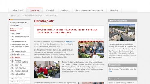 Hof - Maxplatz