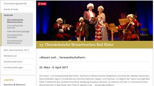 Chursächsische Mozartwochen