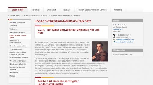 Johann Christian Reinhart Cabinett