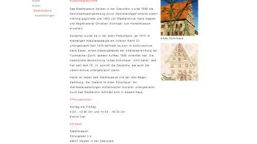 Stadtmuseum mit Max-Reger-Sammlung