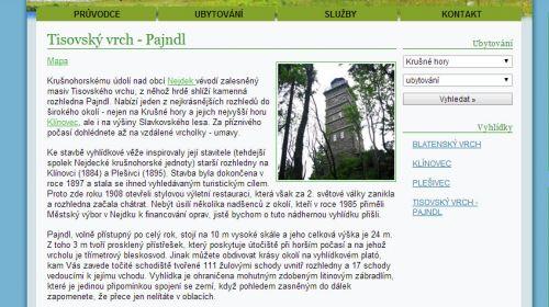 Aussichtsturm auf dem Tisovský vrch bei Nejdek