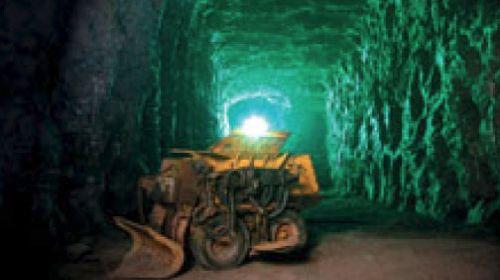 Die grössten Zinnkammern Europas im Besucherbergwerk in Pöhla