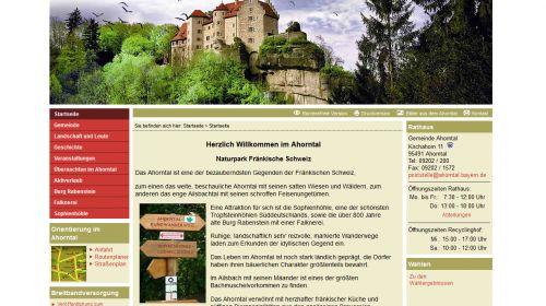 Touristinformation Ahorntal