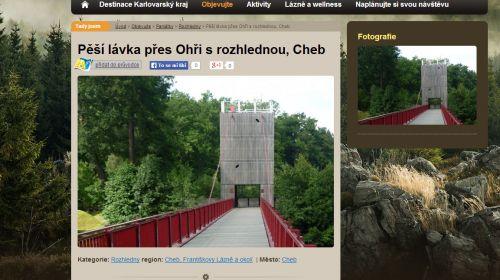 Vávras Fussgängerbrücke mit Aussichtsturm in Cheb
